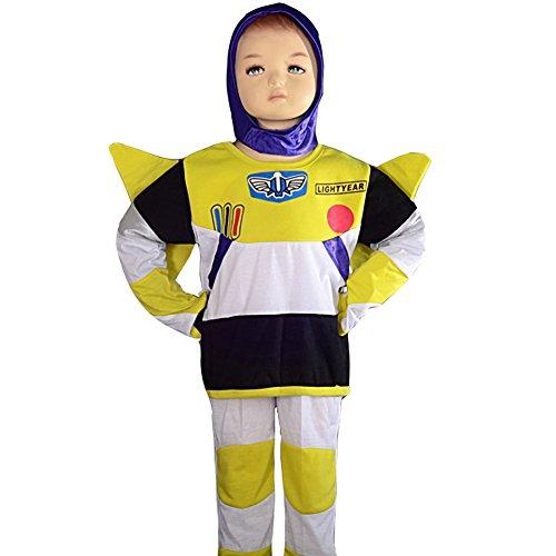 2t Buzz Lightyear Costume (Dressy Daisy Boys' Toy Story Buzz Lightyear Hero Fancy Halloween Party Costume Outfit Size 2T-3T)