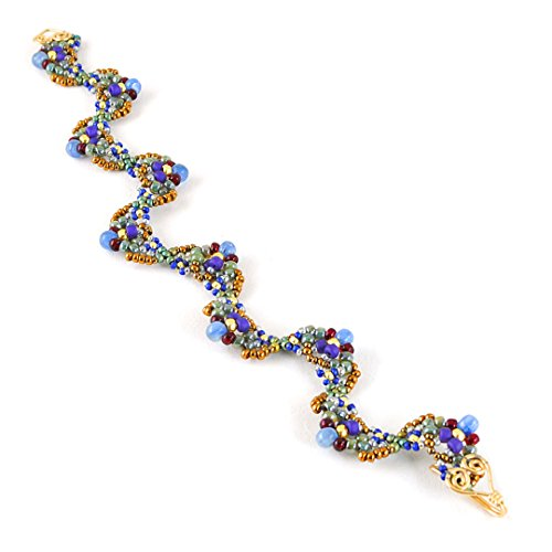 Beaded Art Bracelet with Kyanite in 14K Gold Filled, Artisan Crafted One of a Kind ()