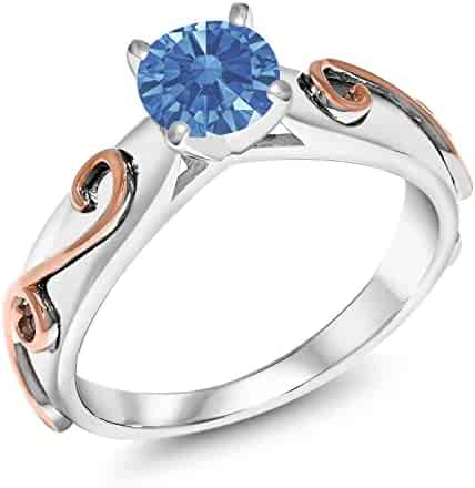 8997eef52 925 Silver Fashion Right-Hand Ring Set with Fancy Blue Zirconia from  Swarovski (Available