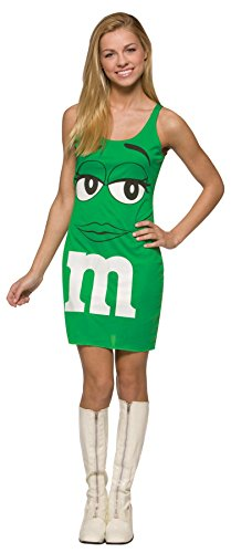 M&M Red Tank Dress Teen/Junior Costume Green - Teen