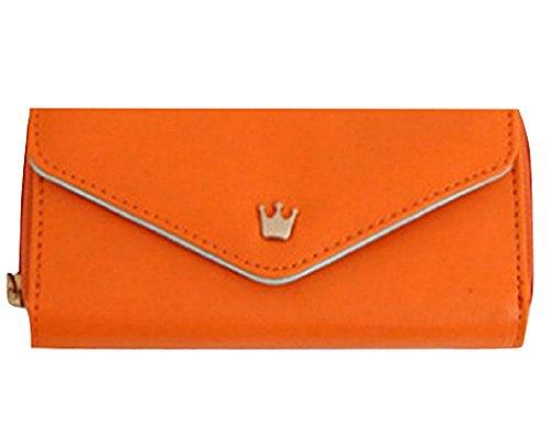 f315c99883ac [悠々企画] 王冠 チャーム が ポイント レディース 二つ折り 財布 小銭 入れ コンパクト サイズ