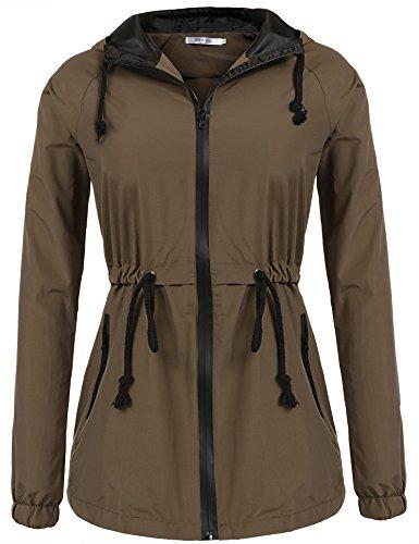Meaneor Lightweight Raincoat Outdoor Waterproof