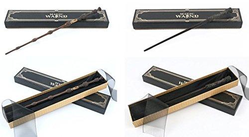 Cultured Customs Magical Wand Replicas: Harry + Albus - Cosplay Prop Set + Bonus Collectible Trading Card ()