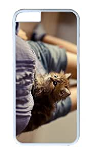 MOKSHOP Adorable fluffy kitten Hard Case Protective Shell Cell Phone Cover For Apple Iphone 6 (4.7 Inch) - PC White