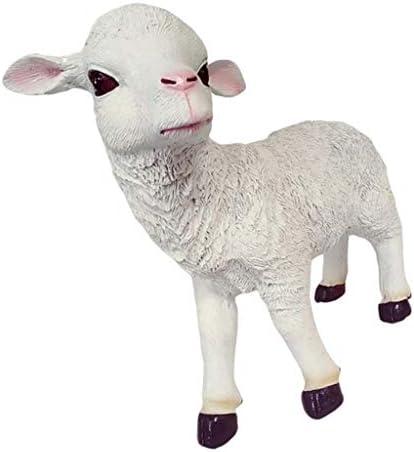 LOVIVER Resin Goat Lamb Animal Statues
