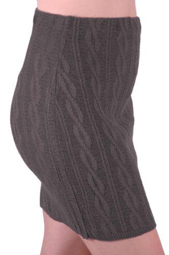 EyeCatch Unique Jupe lainage de Charbon Bois tress Taille en stretch Femme 7PTrnx17W