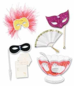Jolee's Boutique Dimensional Stickers, Masquerade Ball