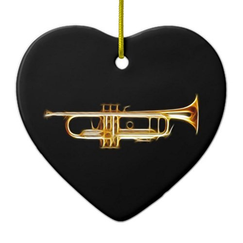 Christmas Tree Decorations Trumpet Brass Horn Wind Musical Instrument Ceramic Ornament Heart Christmas Ornament Crafts…