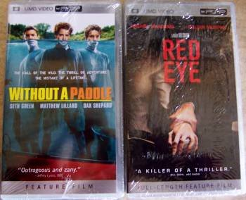 (2 NEW PSP UMD Mini DVD Movie Without a Paddle & Red Eye)