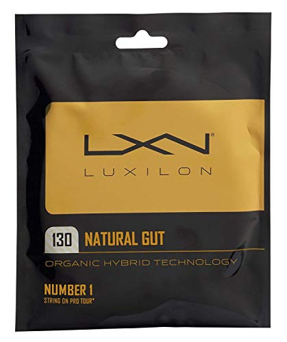 Luxilon Natural Gut 16 Gauge Tennis Racquet String Sets 2-Pack (2 Sets Per Order) - Best for Comfort and Control