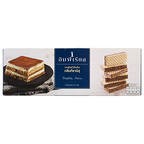 (Imperial, Tiramisu Flavoured Cream Wafer, net weight 100 g (Pack of 2 pieces) / Beststore by KK)