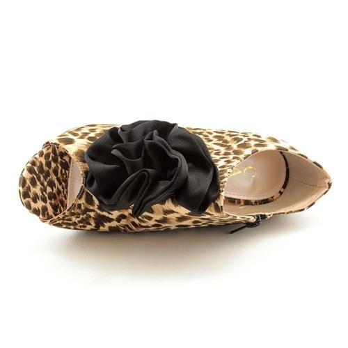 Caparros Femmes Vraiment Peep Toe Textile Bottes En Beige Taille 8