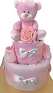 Baby Girls - Pañales de dos pisos para bebé o baby shower, regalo para mamá