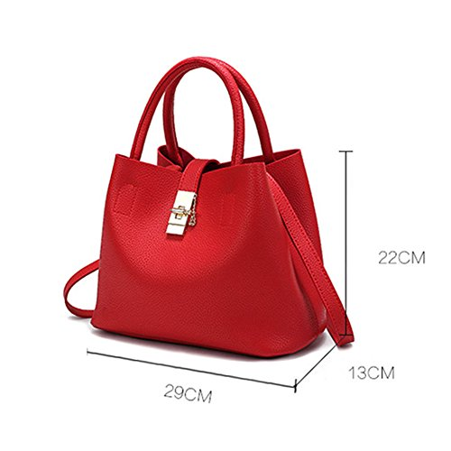 Wallet Women Tote Buckle Handbags Tassel Leather Lock Bag Mother Fashion PU DCRYWRX Handbag Pink Bag Shoulder Messenger Hobo zgzEdw