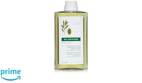 Klorane Champú al Extracto Esencial de Olivo Cabello Con Pérdida de Densidad, 400ml: Amazon.es: Belleza