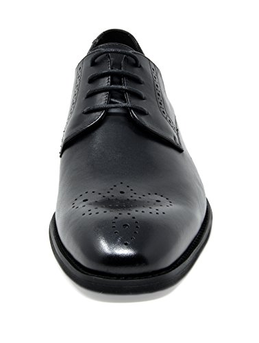 Bruno Marc Mens Washington En Cuir Véritable Robe Oxfords Chaussures 5-noir