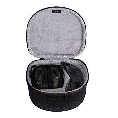 LTGEM Case for both Howard Leight by Honeywell Impact Sport Earmuff and Genesis Sharp-Shooter Safety Eyewear Glasses R-03570 - Black