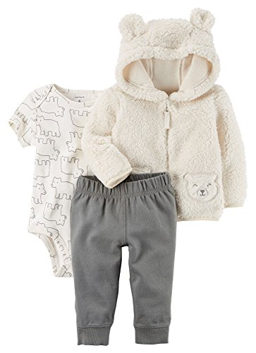 Carter's Baby Boys' 3-Piece Bear Little Jacket Set 12 Months, ()