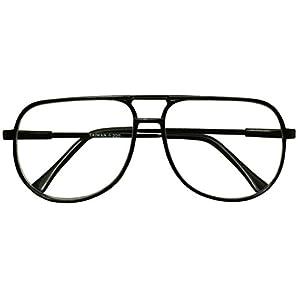 Classic 80s Vintage Oversized Optic Prescription Aviator Reading Eye Glasses Power +100 thru +325 (Tortoise (Bi-Focal), 1.0)