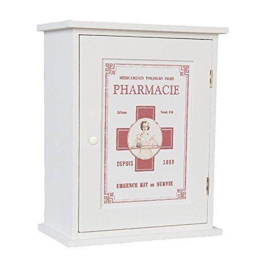 Nostalgischer Arzneischrank PHARMACIE Schränkchen Holz