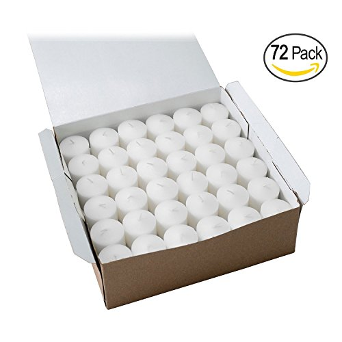 Time Party Favor Kit (Votive Candle, Unscented White Wax, Box of 72, for Wedding, Birthday, Holiday & Home Decoration (10 Hour) by Royal Imports)