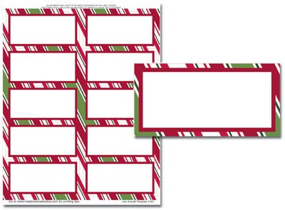Holiday Stripes Address Label (Holiday Stripes Mailing Labels - 50 Labels (Label Size is 2in.x4in.))