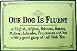Our Dog is Fluent Durable Funny Indoor Outdoor Doormat
