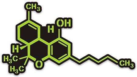 Cannabis Aufkleber Marihuana Thc Molekül 12 7 X 7 6 Cm Küche Haushalt
