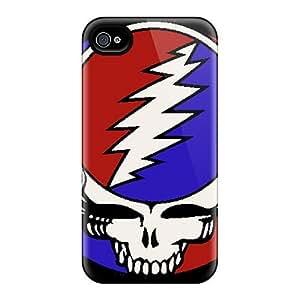 AlissaDubois iPhone 4 4s Anti-Scratch Hard Phone Cases Provide Private Custom Beautiful Grateful Dead Image [Imr18180ECMZ]