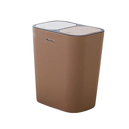 Amazon.com: Trash Can Plastic Press Top Trash Bin, Double ...