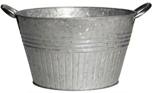 Robert Allen Mpt01650 Round Tub Planter With Handles, 16