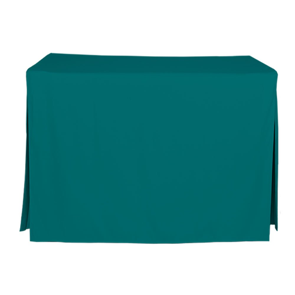 Tablevogue Fitted Folding Table Cover 5-Foot Tablecloth Chocolate TV7979-5FT