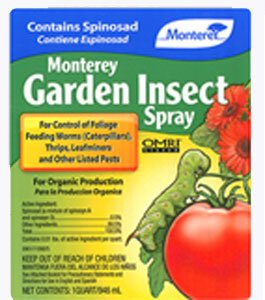 Insect Spray with Spinosad, Case of 12 Quarts by Monterey
