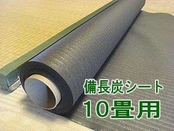 備長炭シート 10畳用 19m 【室内用】 消臭除湿カビ対策炭シート 畳下~フローリング、ウッドカーペット B004NO9NR0