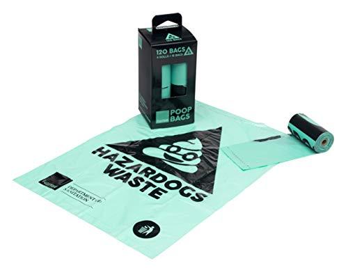 FuzzYard Poop Bags 8 Rolls Per Box (120 Bags), One Size, Blue