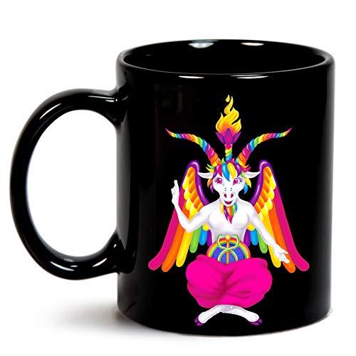 1997 Neon Rainbow Baphomet Mug
