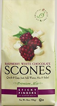 Sticky Fingers Scones Mix, Raspberry White Chocolate, 16 oz