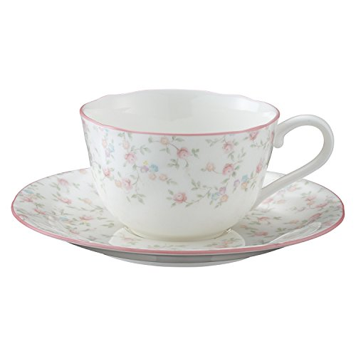 Cutie Rose bone china tea and coffee porcelain bowl plate (1 customer) T59387A/9940 (japan import)