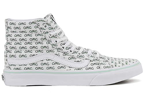 ( Vans Women's Sayings SK8-Hi Slim Skate Shoes (Sayings) True White, Men's 5.5 Women's 7)