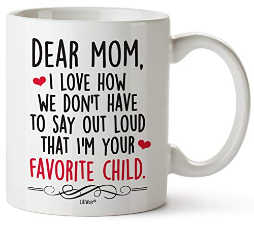 Christmas Gifts For Mom Gift Funny Birthday Coffee Cup Mugs From Daughter Son Mother's Day Mug Presents in Law Step Moms Best Funny Unique Sarcastic Present Ideas Stepmom Aunt Wife Friend Tea Cups (Mother Friend)