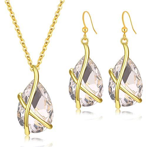 (Women Imitation Crystal Jewelry Sets Necklace Earrings Cross Beads Jewelry Set Ethiopian Wedding Accessories S2761)