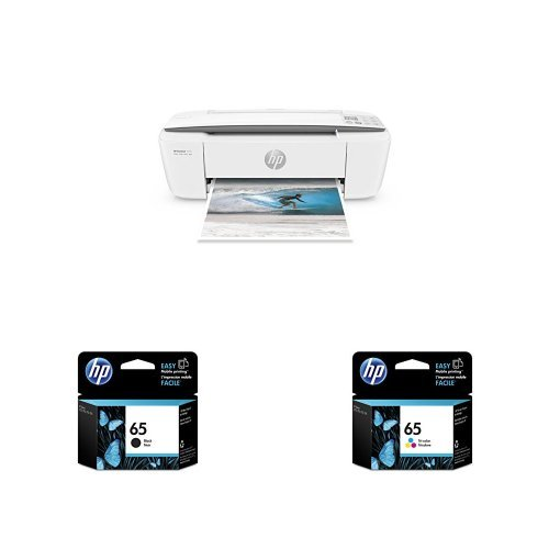 HP DeskJet 3755 Compact All-in-One Photo Printer with Standard Ink Bundle