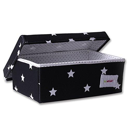 Minene–Caja de almacenaje (tamaño pequeño, negro con blanco star) 21162