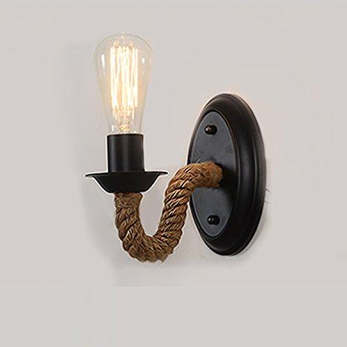 Baycheer Loft Seil Lampe Wandlampe Lampenfassung Wand Leuchte Antik