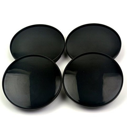 Center Rim Chrome Caps (68mm/61.5mm Black Car Wheel Center Hub Caps Base 4pcs)