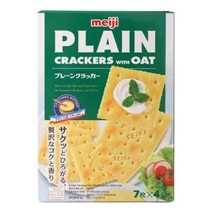 Amazon.com: Llanura Crackers con avena Meiji 104 G.: Baby