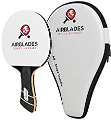 Our performance level ping pong paddle with an ergonomic slope handle is suitable for beginner, intermediate, and advanced players for play on portable, indoor, and outdoor tables. The paddle's material is made with three middle layers of Ayo...