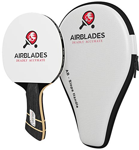 AirBlades 5 Star Professional Ping Pong Paddle for Intermediate/Advanced Players -Table Tennis Paddle Featuring Ergonomic Slope Handle Design - Includes Free Ping Pong Racket Carry Case