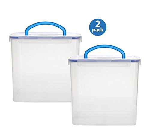 (Snapware 1098437 40 Cup Clear Airtight Food Storage Container With Handle (2-Pack))