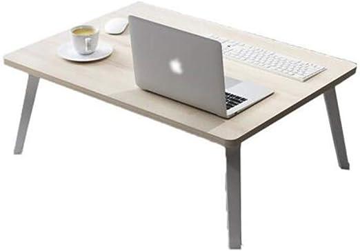 QIDI Mesa Plegable Laptop Madera Maciza por Cama Sofá Estudiar ...